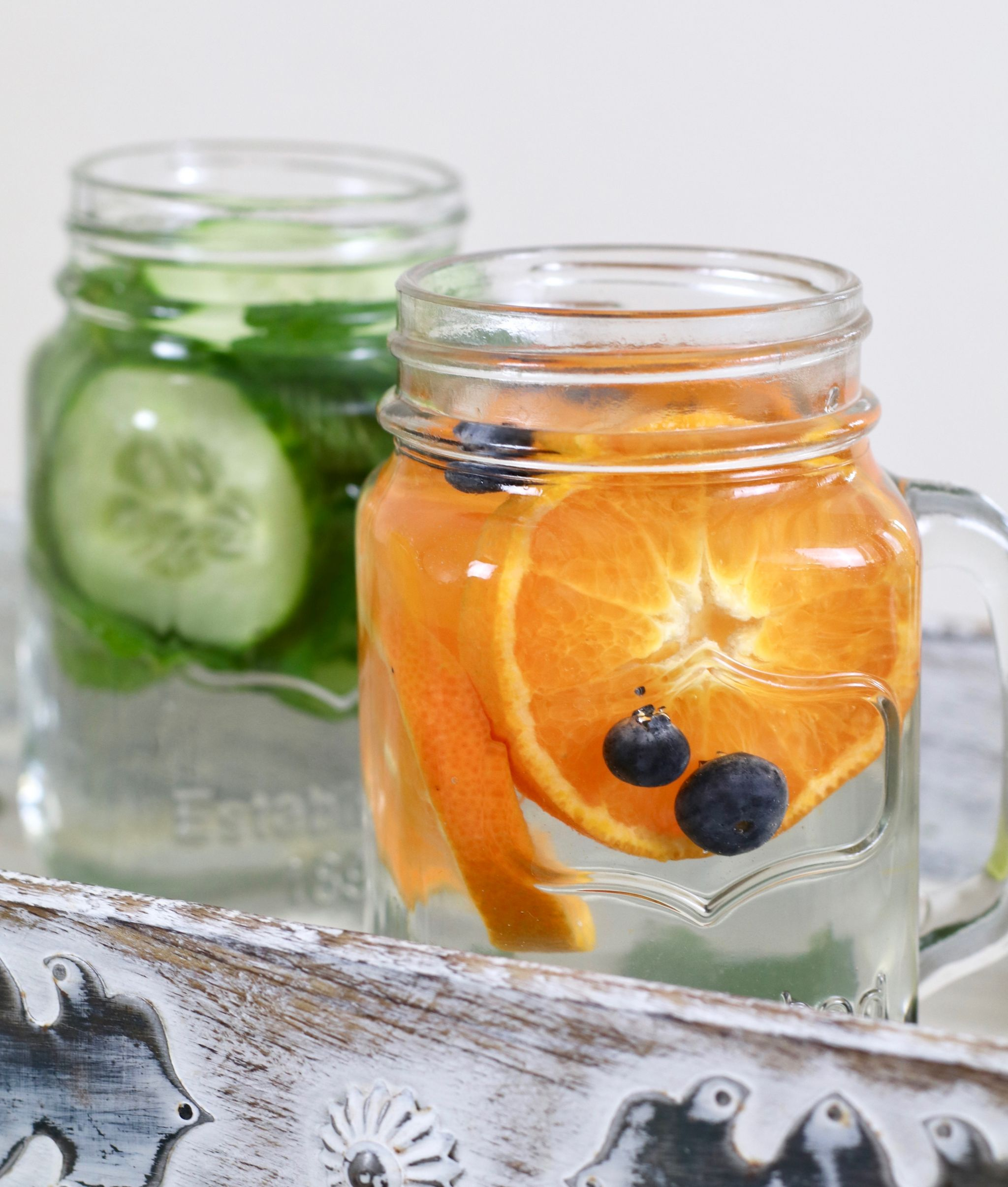 spruce up your water orange cucumber mint
