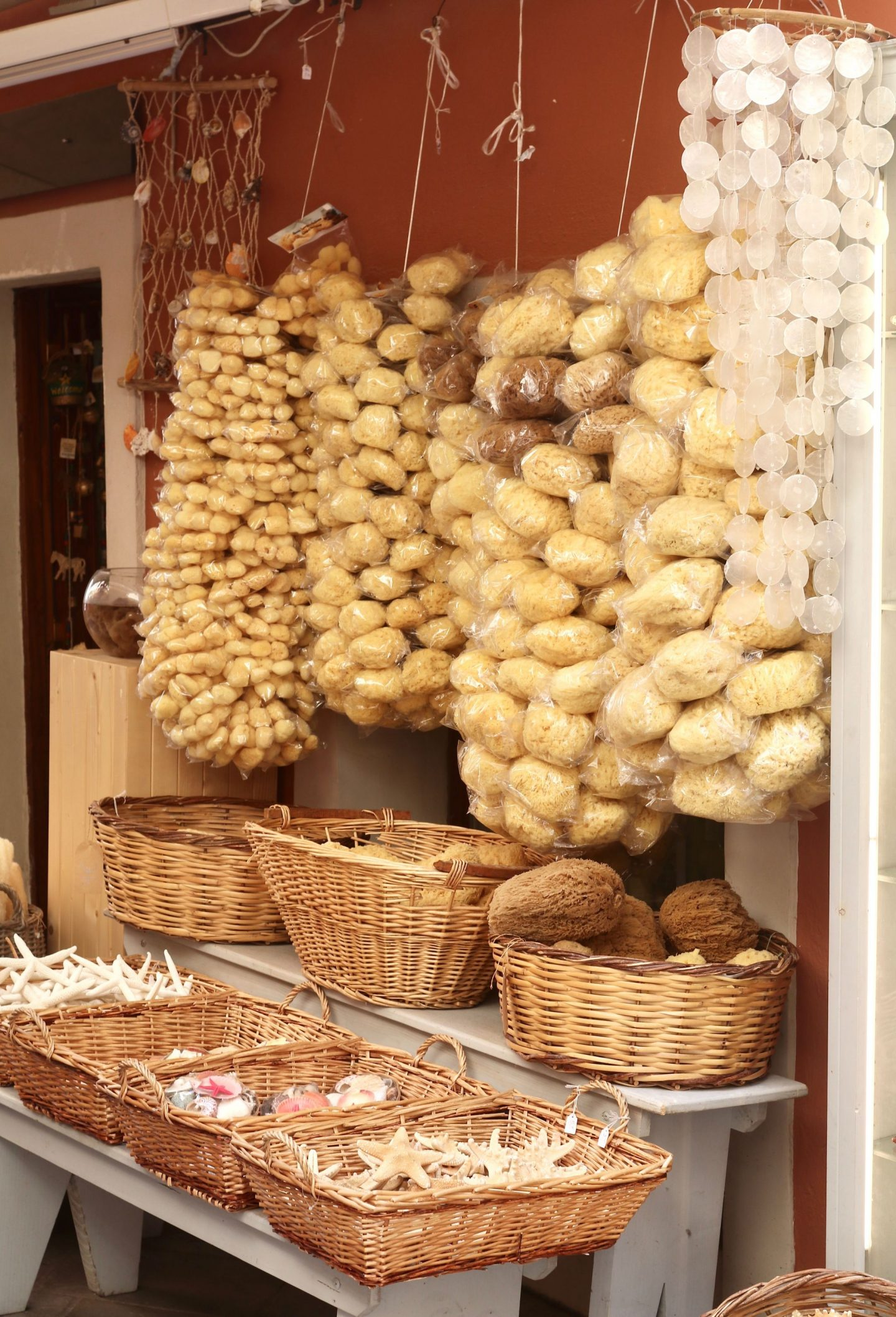 Corfu town sponge shop | Corfu travel guide