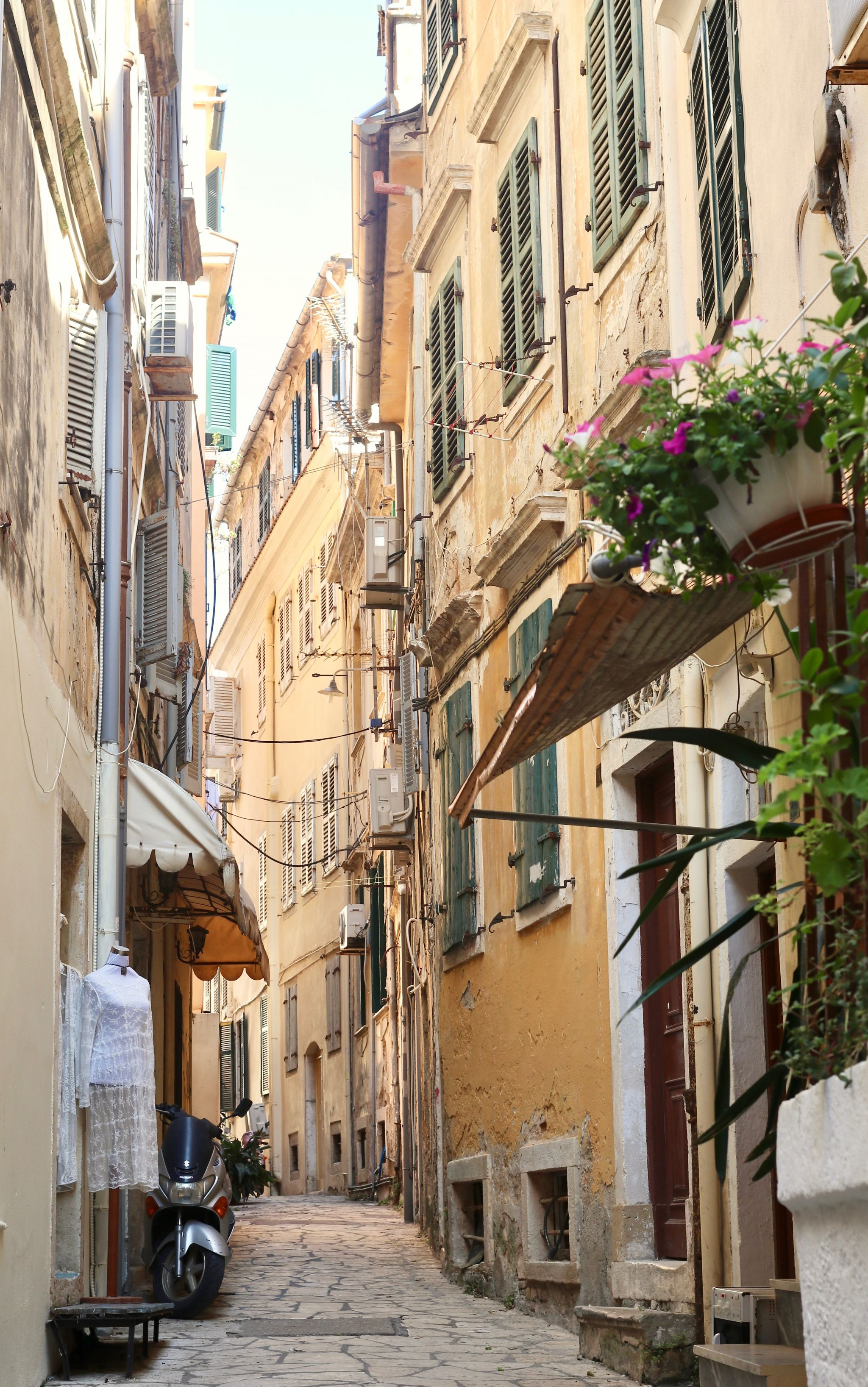 Corfu town street view 2 | Corfu travel guide