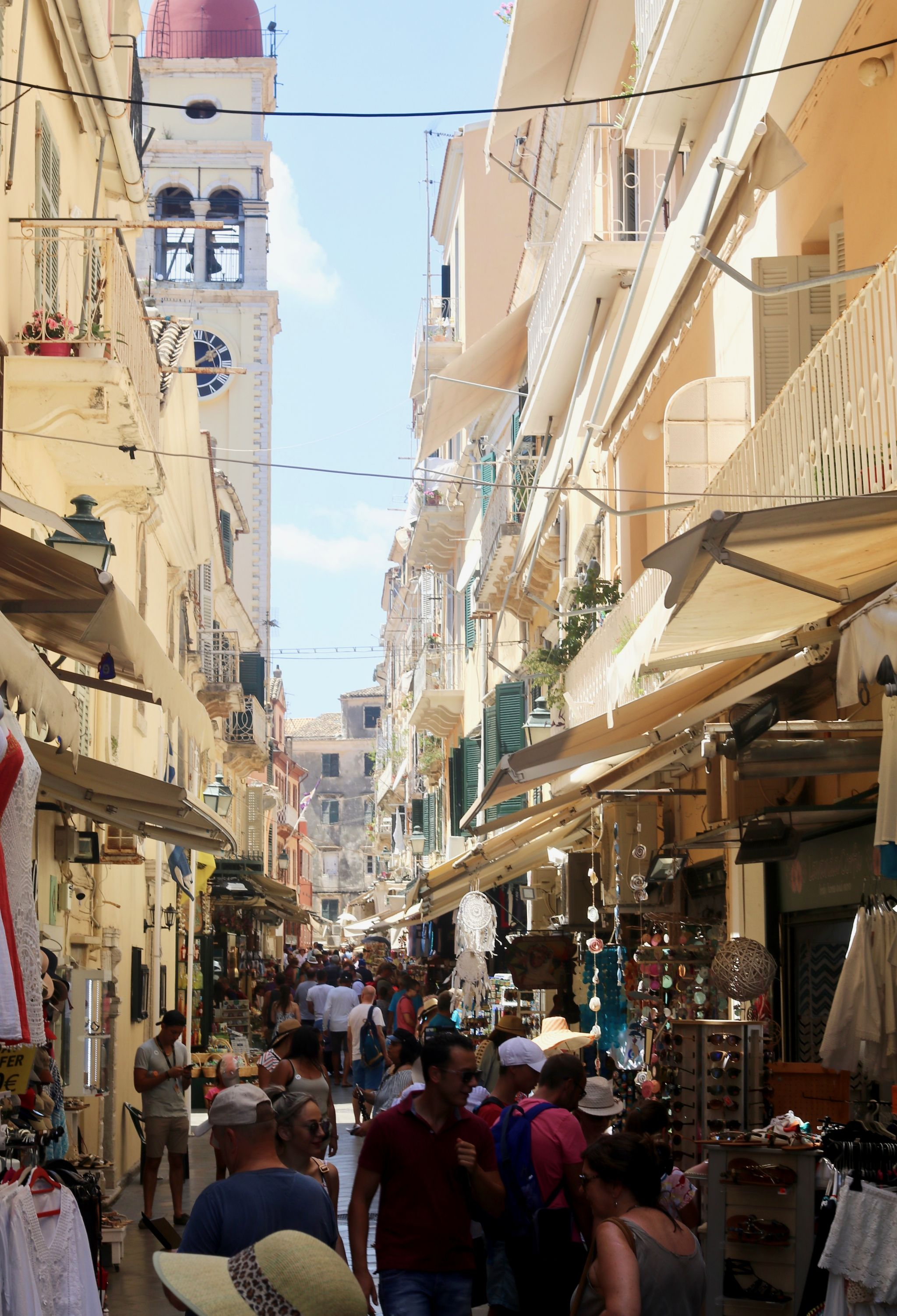 Corfu town street view | Corfu travel guide