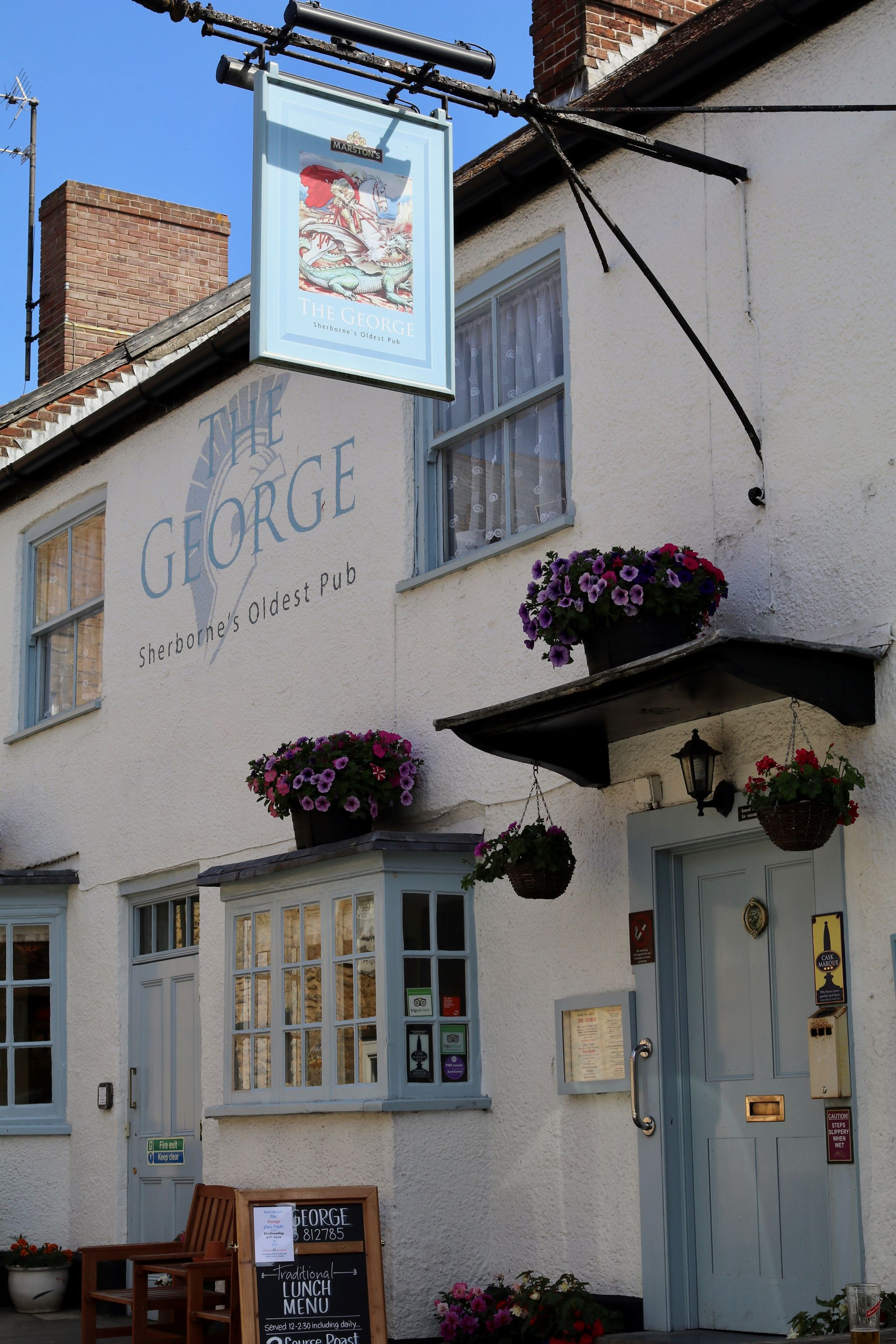 Sherborne Dorset oldest pub The George