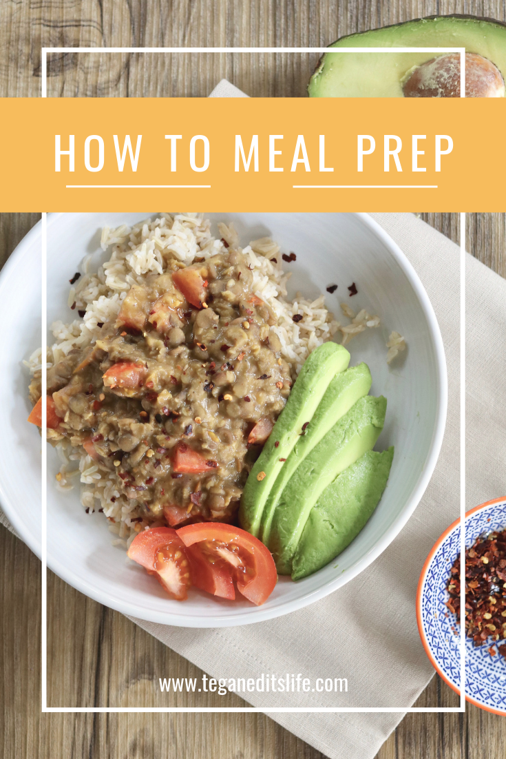 How to meal prep. Pinterest pin.